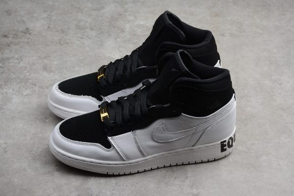 best website 965d1 22492 Air Jordan 1 Retro High Equality Black White Metallic Gold AQ7474-001-3
