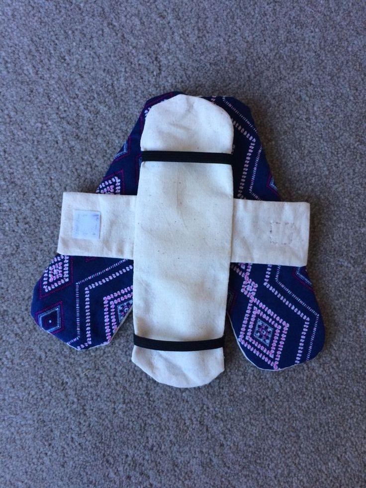 Handmade Reusable Cloth Fabric Period Menstrual Sanitary Pads Set aprox.7cmx21cm  | eBay