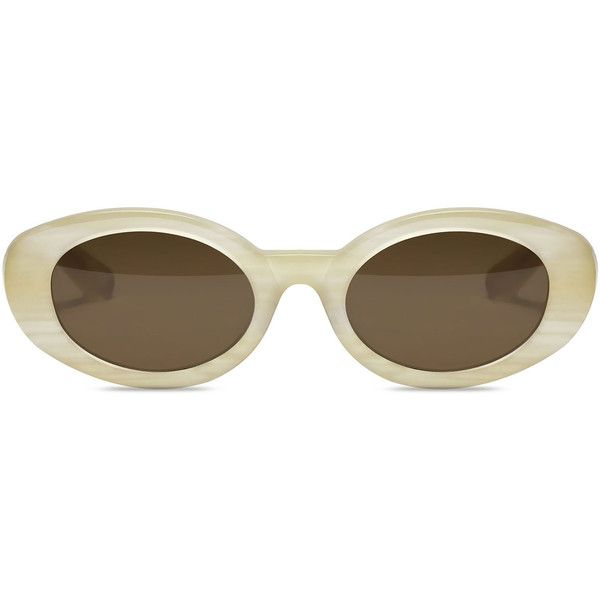Elizabeth and James McKinley Oval Acetate Sunglasses (£160) ❤ liked on Polyvore featuring accessories, eyewear, sunglasses, glasses, acetate sunglasses, oval sunglasses, oval glasses, elizabeth and james. eyewear and acetate glasses