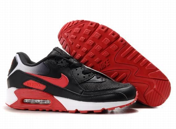 https://www.kengriffeyshoes.com/nike-air-max-90-black-red-white-p-668.html Only$72.89 #NIKE AIR MAX 90 BLACK RED WHITE #Free #Shipping!