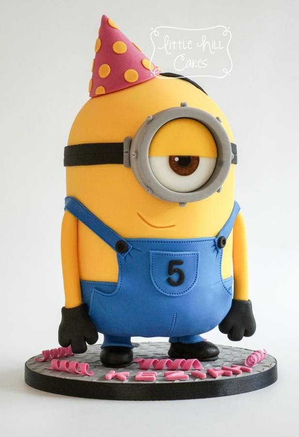 Standing Party Minion Cake by Little Hill Cakes