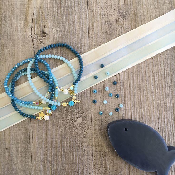 #duepuntihandmade #handmade #handmadewithlove #handmadejewelry #bracelets #pearls #fish #blue #sea #summer #sun