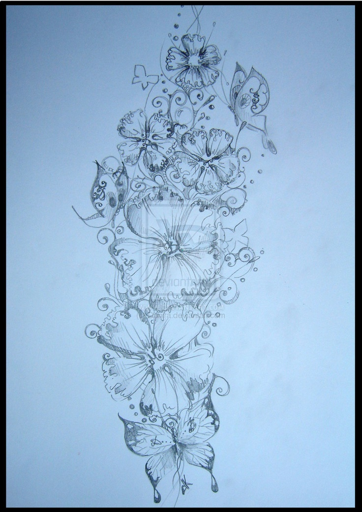 tatto flower drawings | flower design tattoo by danira designs interfaces tattoo design 2009 ...