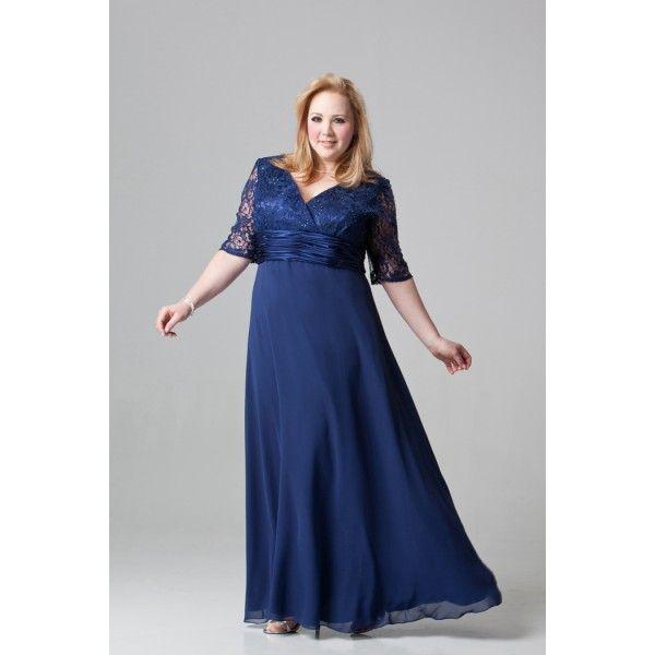vestidos de gasa largos para gorditas - Buscar con Google