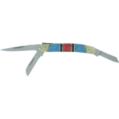 New Southwestern Folding 3 Blade Pocket Texas Jack Knife Faux Western Stone | eBay