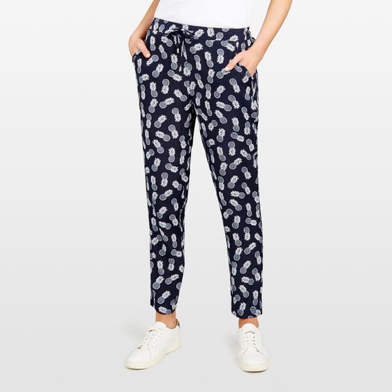 PINAPPLE PRINTED SOFT PANT  NOCTURNAL/SUMMER WHI