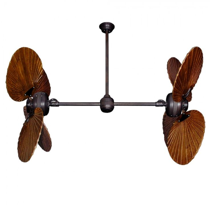 $ 1,299.00 for Family Room Twin Star III Double Ceiling Fan - Oiled Bronze with 13 Blade Options