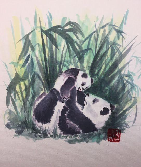 Panda Mama and Her Toddler