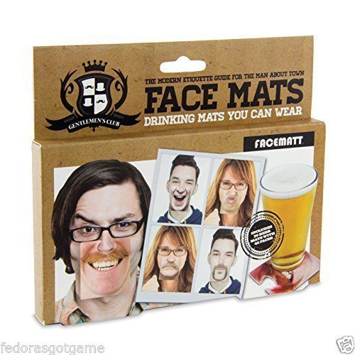 Details about Gentlemans Club Face Coaster 20 Double Sided Funny Face Coasters