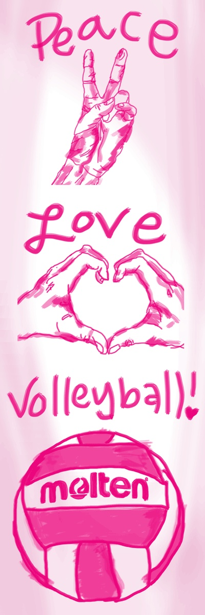 Peace, love, volleyball! #Molten #Volleyball