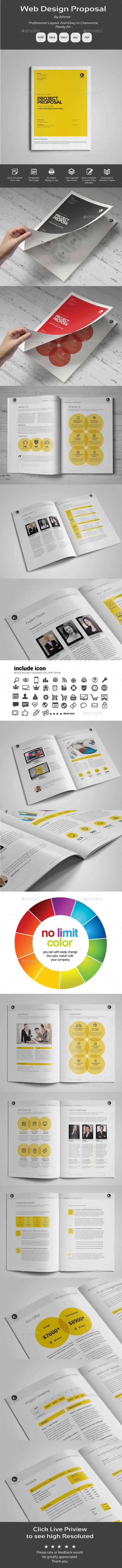 Web Design Proposal Template #design #print Download: http://graphicriver.net/item/web-design-proposal/11974529?ref=ksioks