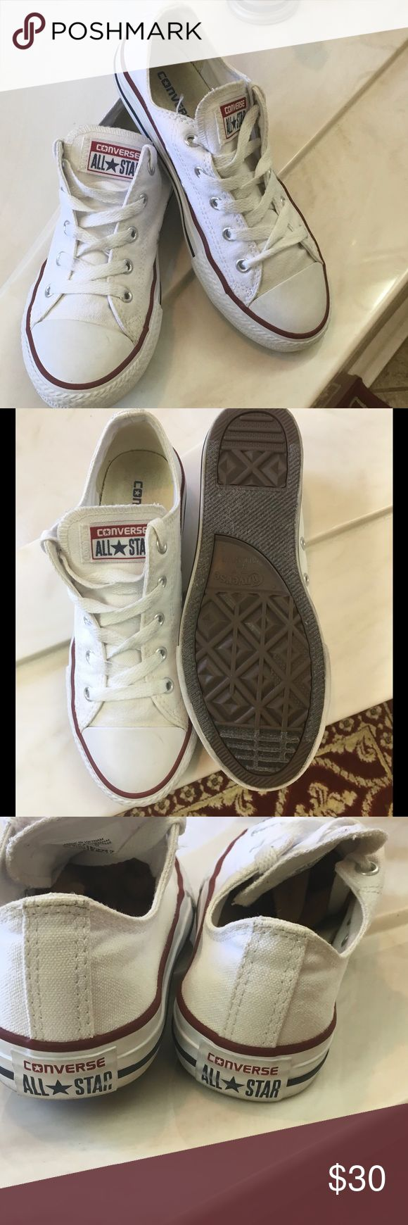 Girls White Converse sneaker SZ 3 In excellent condition no stains no rips Converse Shoes Sneakers