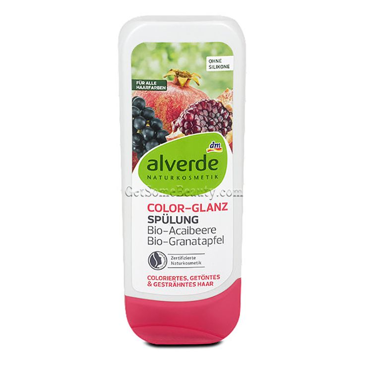 ALVERDE Natural Cosmetics Color Shine Conditioner Organic Acai Berry & Pomegranate 200 ml | Get Some Beauty