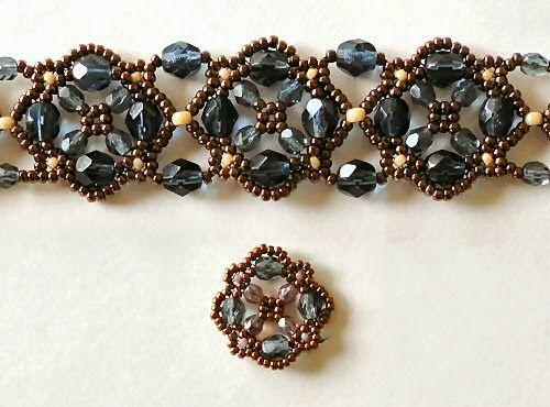 Linda's Crafty Inspirations: Bracelet of the Day: Flower Cross Bracelet