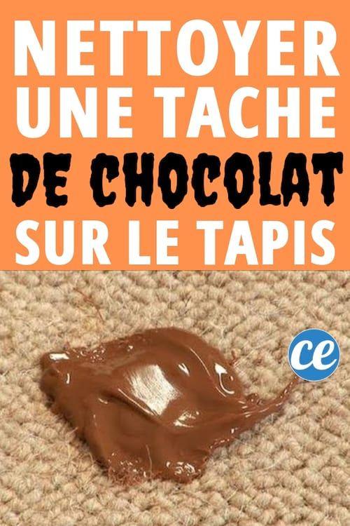 Comment Faire Disparaître Une Tache de Chocolat Sur Un Tapis Ou Une ...