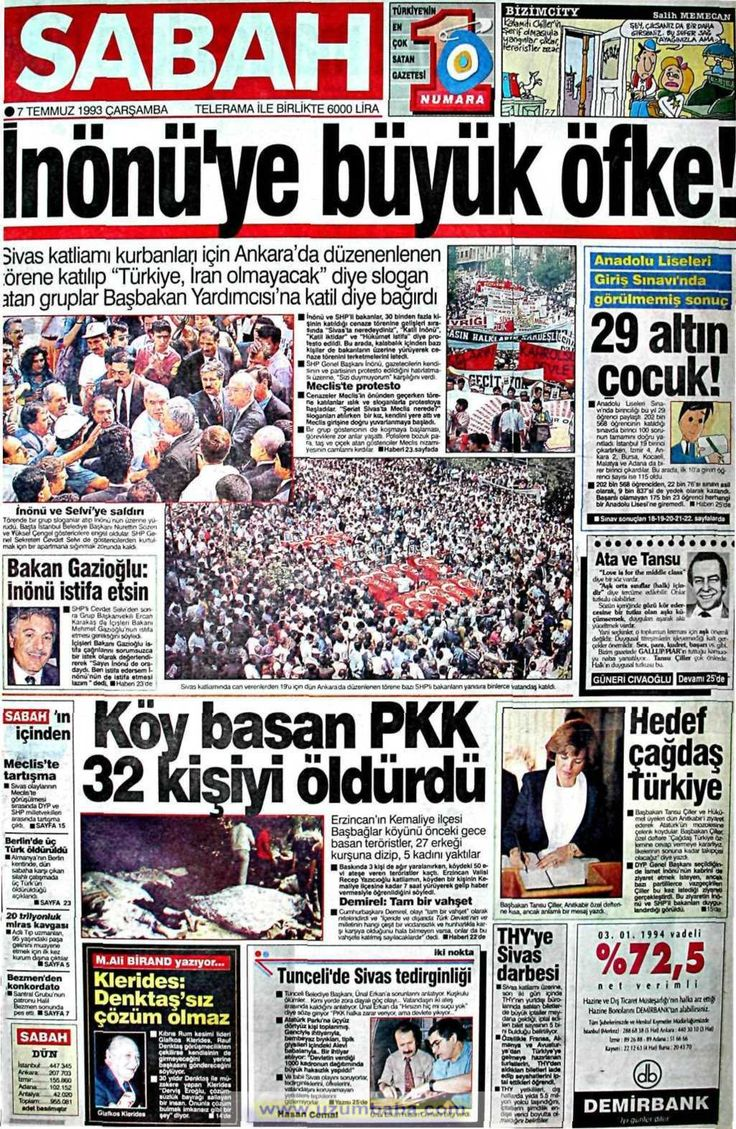 Sabah gazetesi 7 temmuz 1993