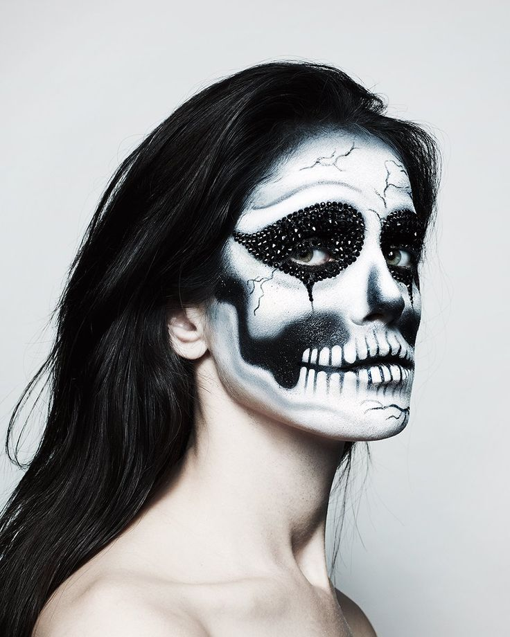 The Skeleton.  Makeup by Pat McGrath.