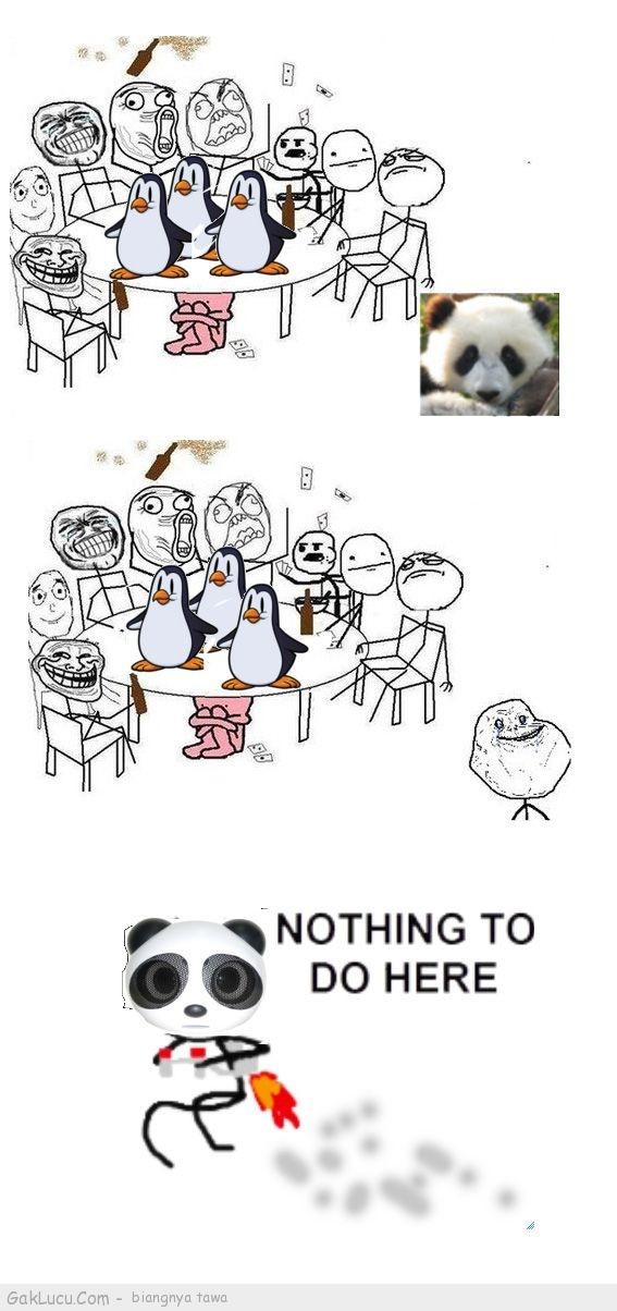 Lelucon berjudul Nasip Panda yang dibuat oleh Tpao di www.GakLucu.com. Temukan juga lelucon lain yang mirip.