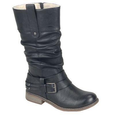 Rieker Black 'Study II' womens calf length boots   Debenhams £67