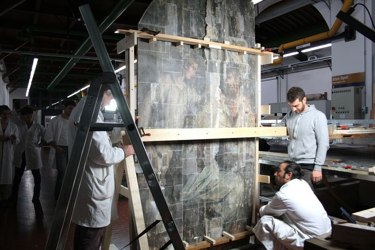 "For the first time in 47 years, the five wooden panels that make up Giorgio Vasari's ""Last Supper"" are joined together again to make the artwork whole."