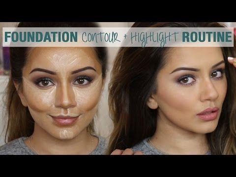 ▶ Tutorial | Foundation Contour & Highlight Routine | Kaushal Beauty - YouTube