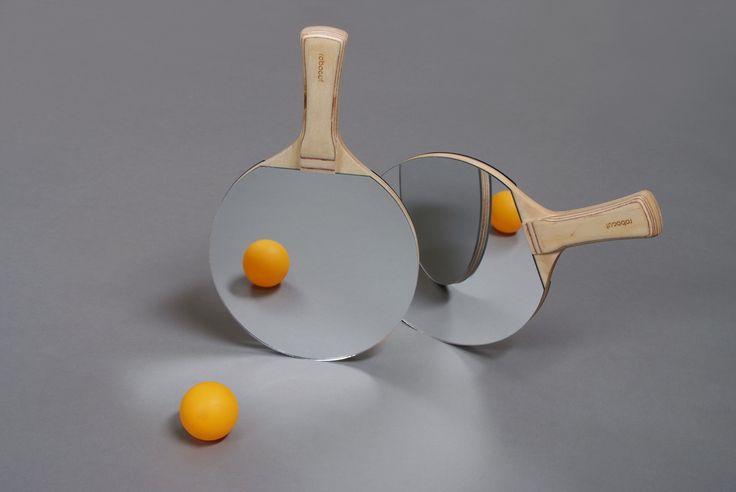 Mirror ping pong paddle
