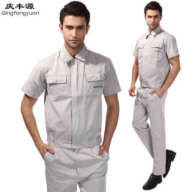 Big Size Suit Sets Men Coveralls Factory Uniforms Safety Workwear Labor Working clothes Suit Sets wholesale