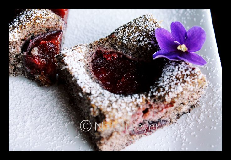 Plum and poppy seed cake