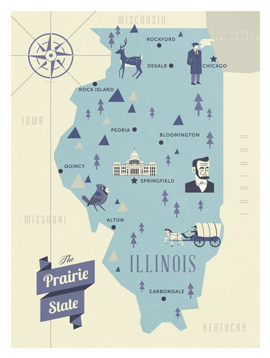Best State Map Ideas On Pinterest - United states map illinois
