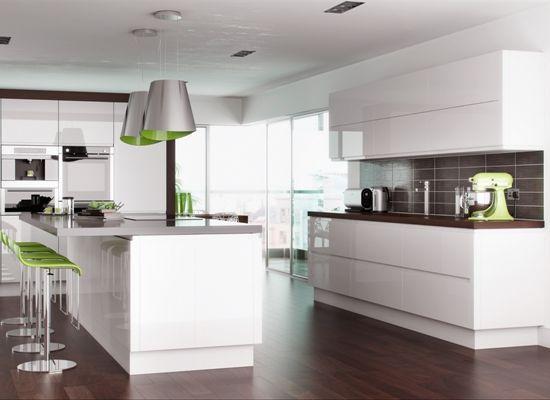 Designer Handleless White Gloss Kitchen - GBP 1250