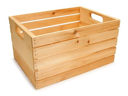 Natural Unfinished Wood Crate 10