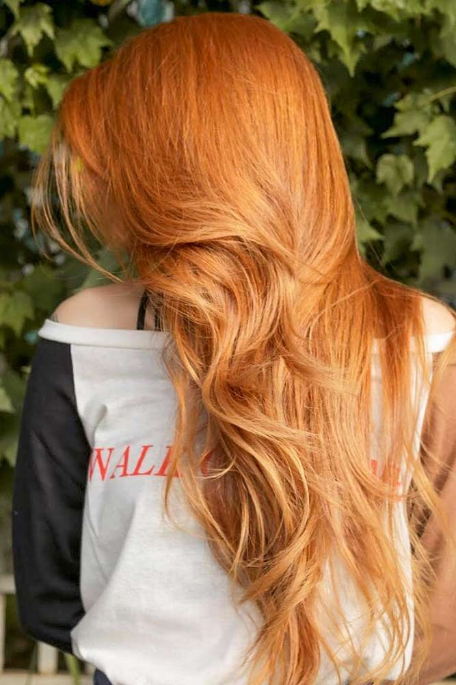 Strawberry Blonde Hair Color For Spring Look #strawberryblonde Spring hair colors are cool and refreshing, allowing you …
