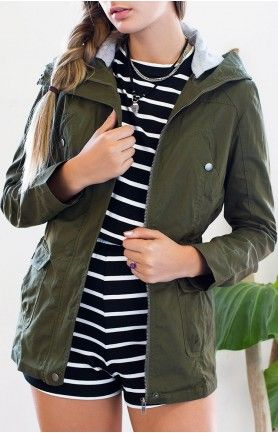 Devon Jacket Khaki #BBFEST #beginningboutique
