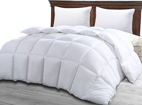 Product review for Queen Comforter Duvet Insert White - Quilted Comforter with Corner Tabs - Hypoallergenic, Plush Siliconized Fiberfill, Box Stitched Down Alternative Comforter by Utopia Bedding.  - We bring you luxury Hypoallergenic Down Alternative Comforter, Duvet Insert at an affordable price! The 100% Hypoallergenic Down Alternative Comforter, Duvet Insert delivers optimal comfort, quality, and value. Siliconized fiberfill alternative fibers help reduce allergy symptom