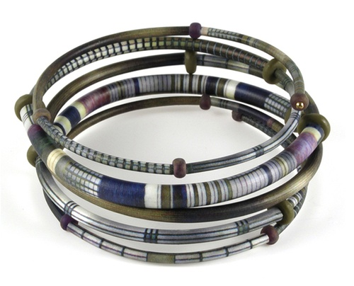 SHARON MACLEOD : Wrap Bracelet with African Asante Pattern