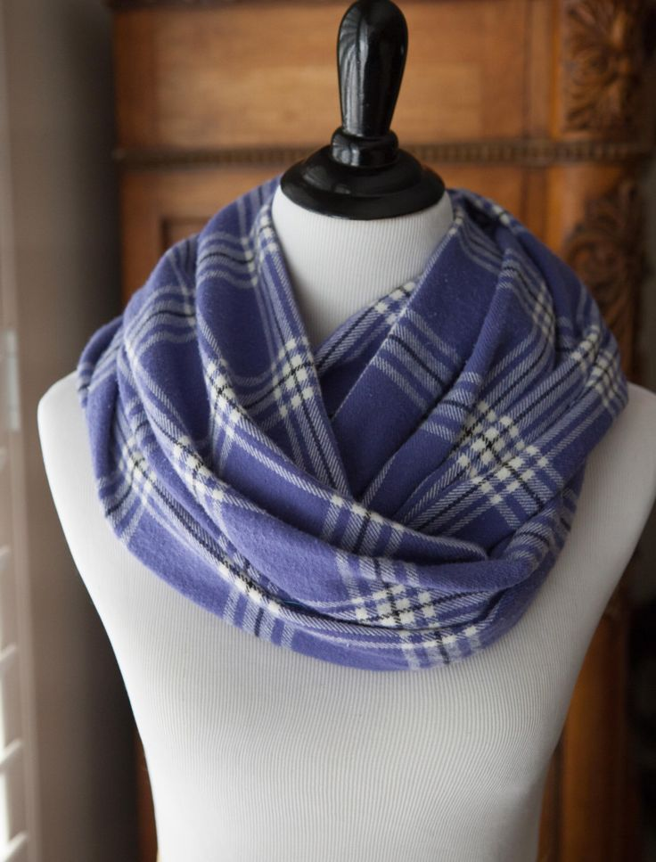 SCARF - Purple and White Plaid Flannel Infinity Scarf by ScarfSensation on Etsy https://www.etsy.com/listing/215935619/scarf-purple-and-white-plaid-flannel