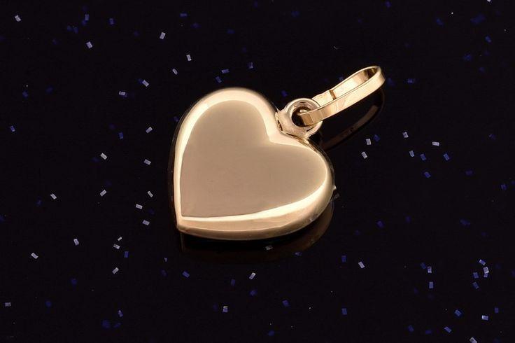Žluté zlaté srdce  P072 0,45g