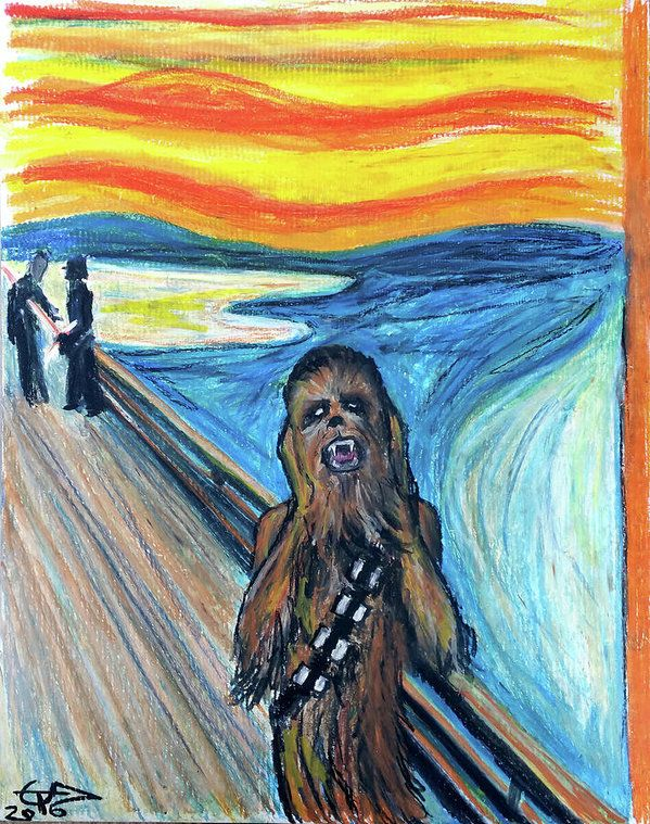 Chewbacca Print featuring the painting The Roar by Tom Carlton