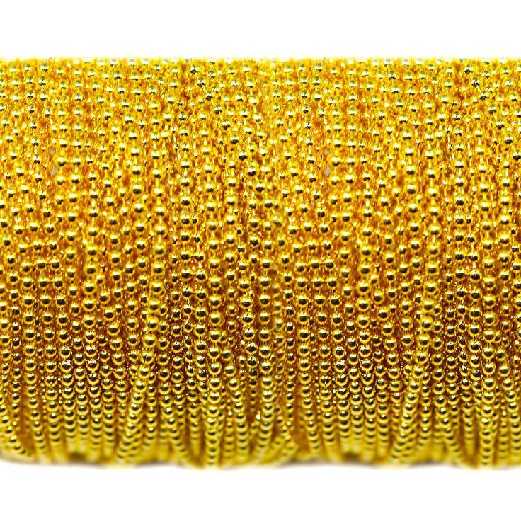 Купить Цепь металлическая золотистая - золотой, цепь, цепи, цепь металлическая, металлические цепи