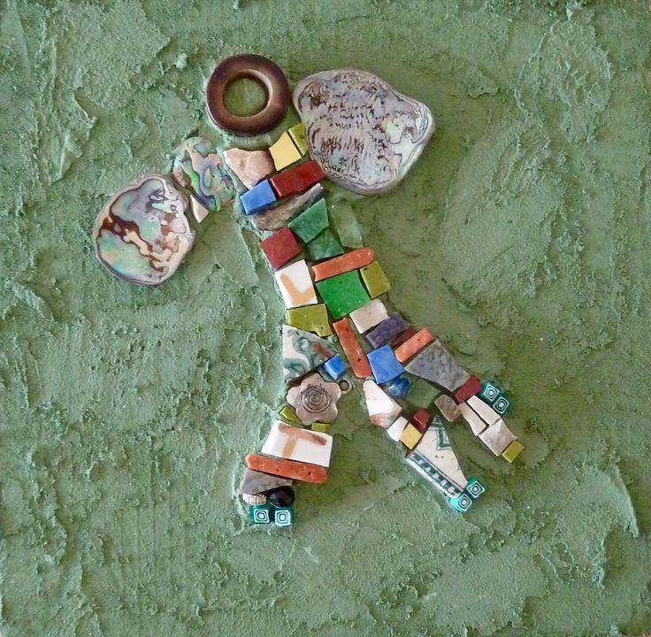 "Mosaic art ""Forest Angel #2"" - WinterCreek Mosaics by Sue Leitch (scheduled via http://www.tailwindapp.com?utm_source=pinterest&utm_medium=twpin&utm_content=post125807407&utm_campaign=scheduler_attribution)"