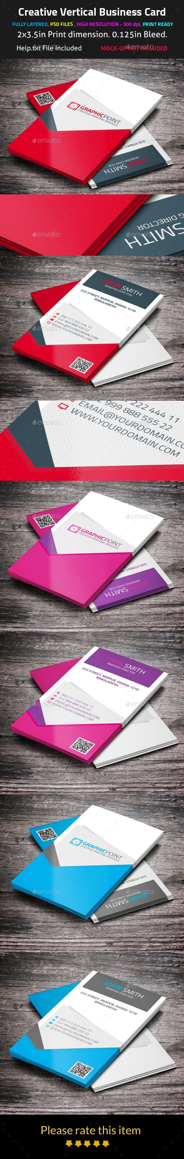 Best 25 Vertical business cards ideas on Pinterest