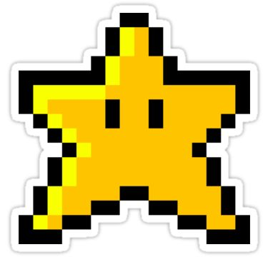Pixel Mario star that I made! Let me know if you guys like it :) I think it would make a really coo… • Also buy this artwork on stickers, apparel, kids clothes, and more.