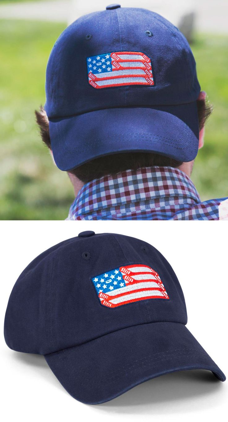 Embroidered Patriotic Hockey Hat from ChalkTalkSPORTS!