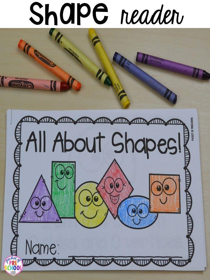 Shape emergent reader! Plus 2D Shapes activities for preschool, pre-k, and kindergarten. Shape mats (legos, geoboards, etc), play dough mats, posters, sorting mats, worksheets, & MORE.
