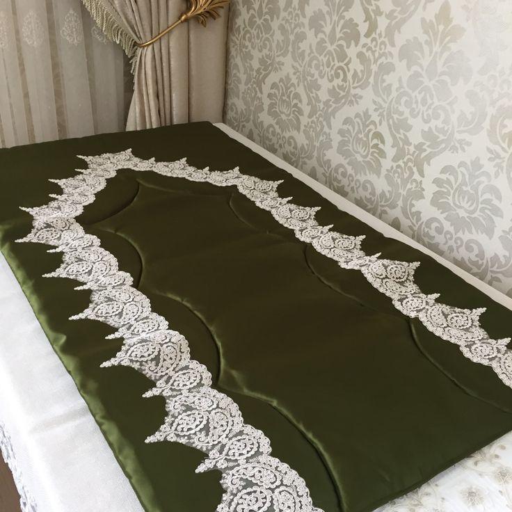 Fransız Dantelli Bohça Seti | Yağ Yeşili