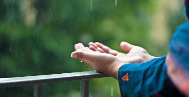 مدونه فركش دعاء المطر مستجاب والسنن النبوية وقت نزول المطر Dua When It Rains Hands Allah