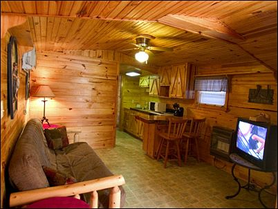Guest House Living Room And Kitchen Cabin Loft Home