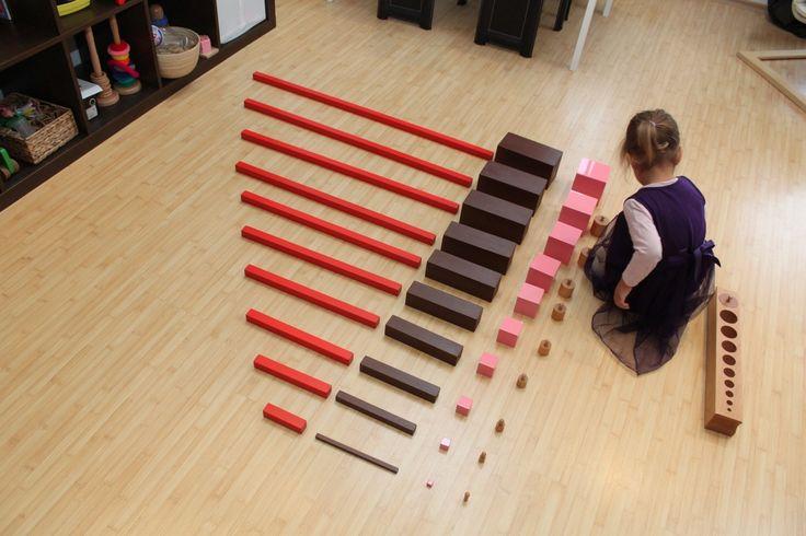 - Formes et Grandeurs- Comparer, ranger des objets selon leur taille ---> Extension du matériel sensoriel. Associer le + grand avec le + long etc...