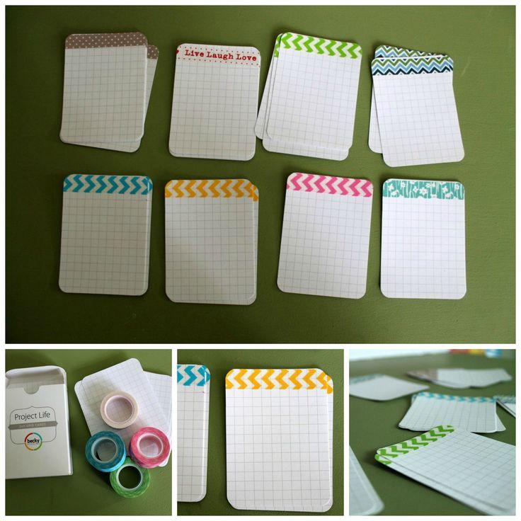 Washi Tape Ideas: Use washi tape on pocket scrapbooking