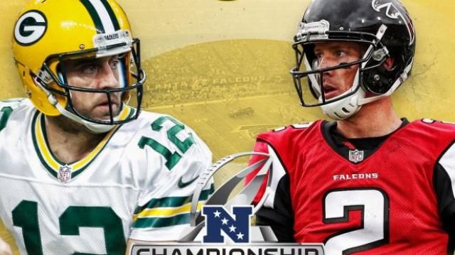 Green Bay Packers vs.AtlantaFalcons por la final de laNFC. January 22, 2017.